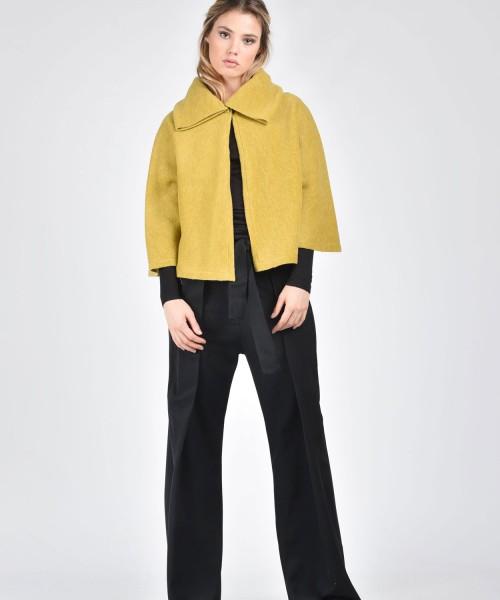 Woollen Mustard Bolero A08505