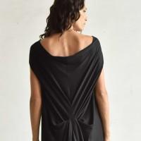 V Neck Floor Length Baggy Dress A03084
