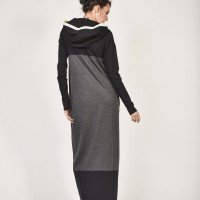 Maxi Autumn and Winter Hooded Dress A03626