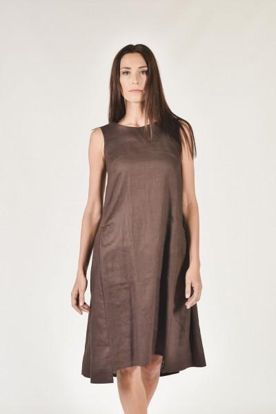 Sleeveless Linen Dress А90047