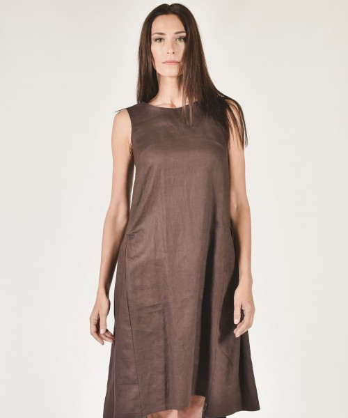 Sleeveless Linen Dress А90047