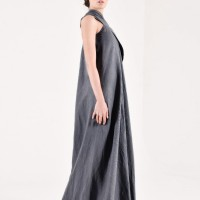 Maxi One Shoulder Linen Dress A03144