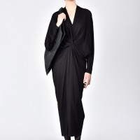 Black Extravagant Asymmetriс Kaftan Dress A03178