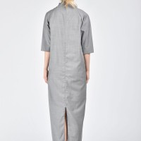 Cold Wool High Collar Dress A03179