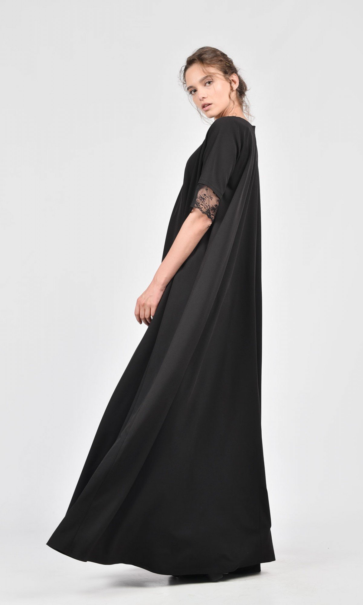 Maxi Kaftan with late finished sleeves A03184