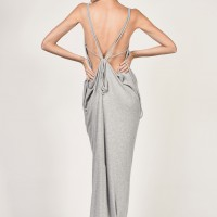 Ribbed Dress with Open Back A03256