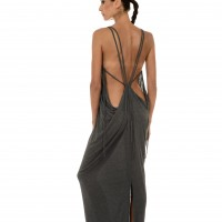 Dresses - Ribbed Dress with Open Back A03256