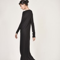 Dresses - Black Extravagant Maxi Dress A03257