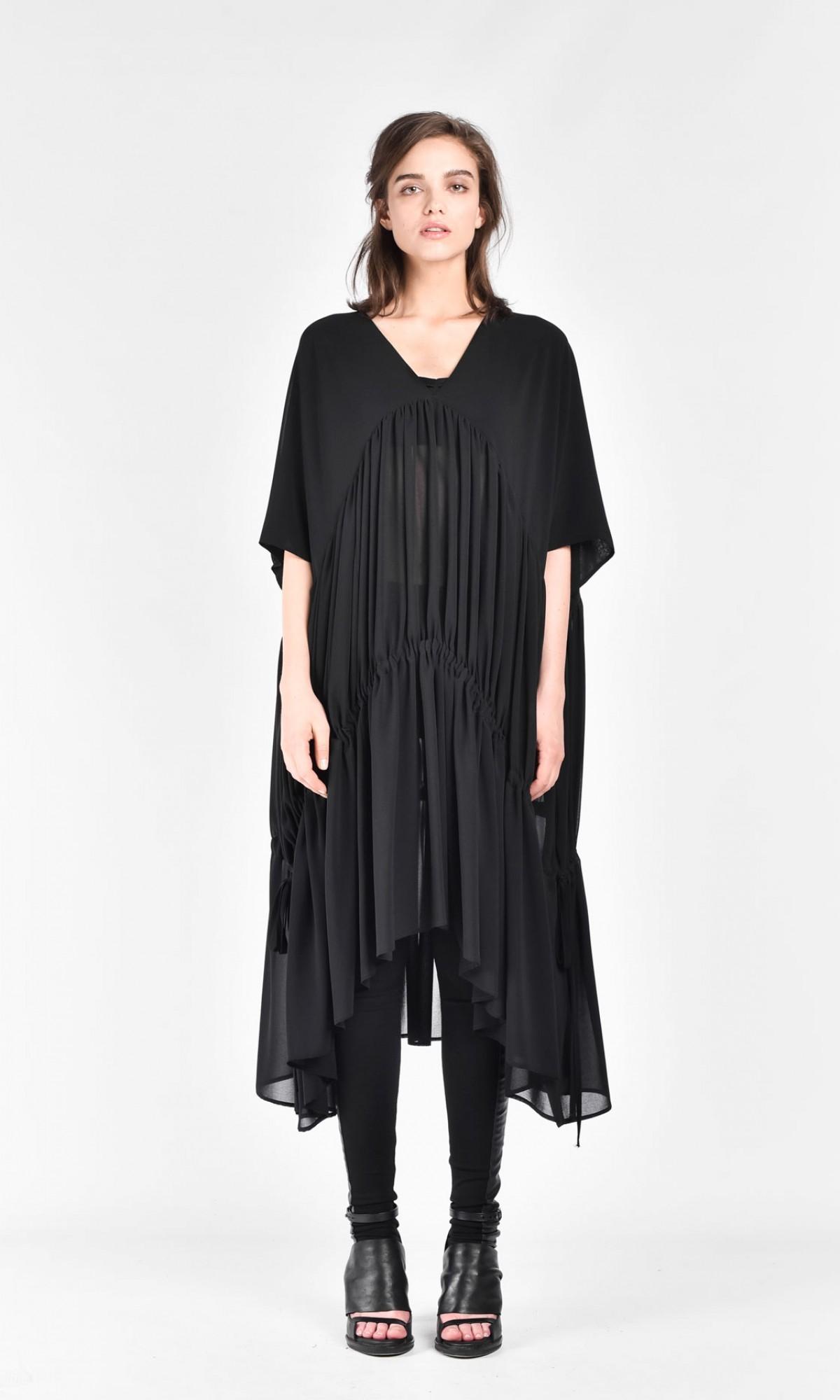 Maxi Chiffon Draped Dress A03258