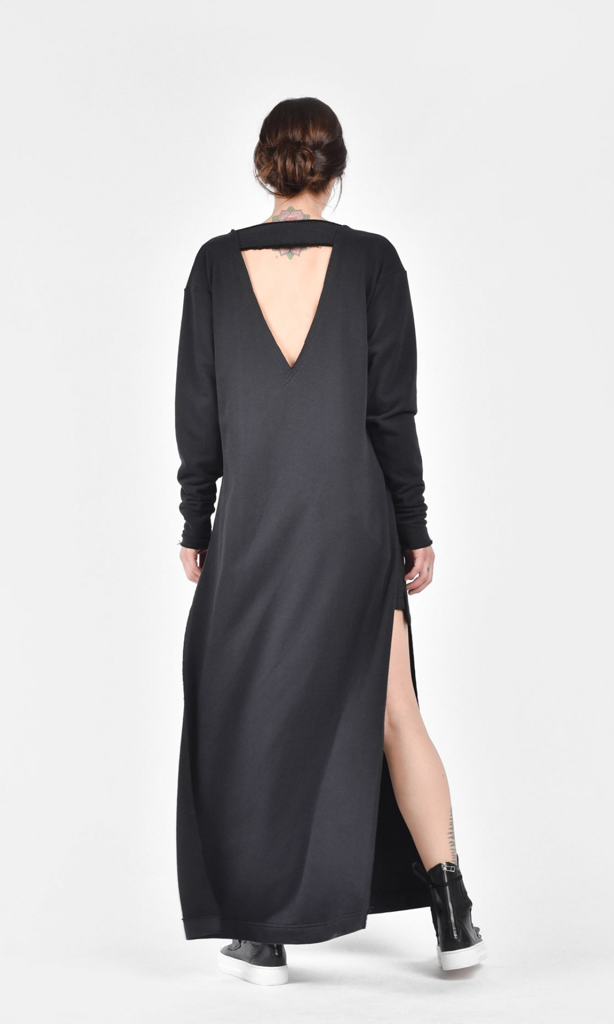 Oversize Maxi Top with side slits A03328