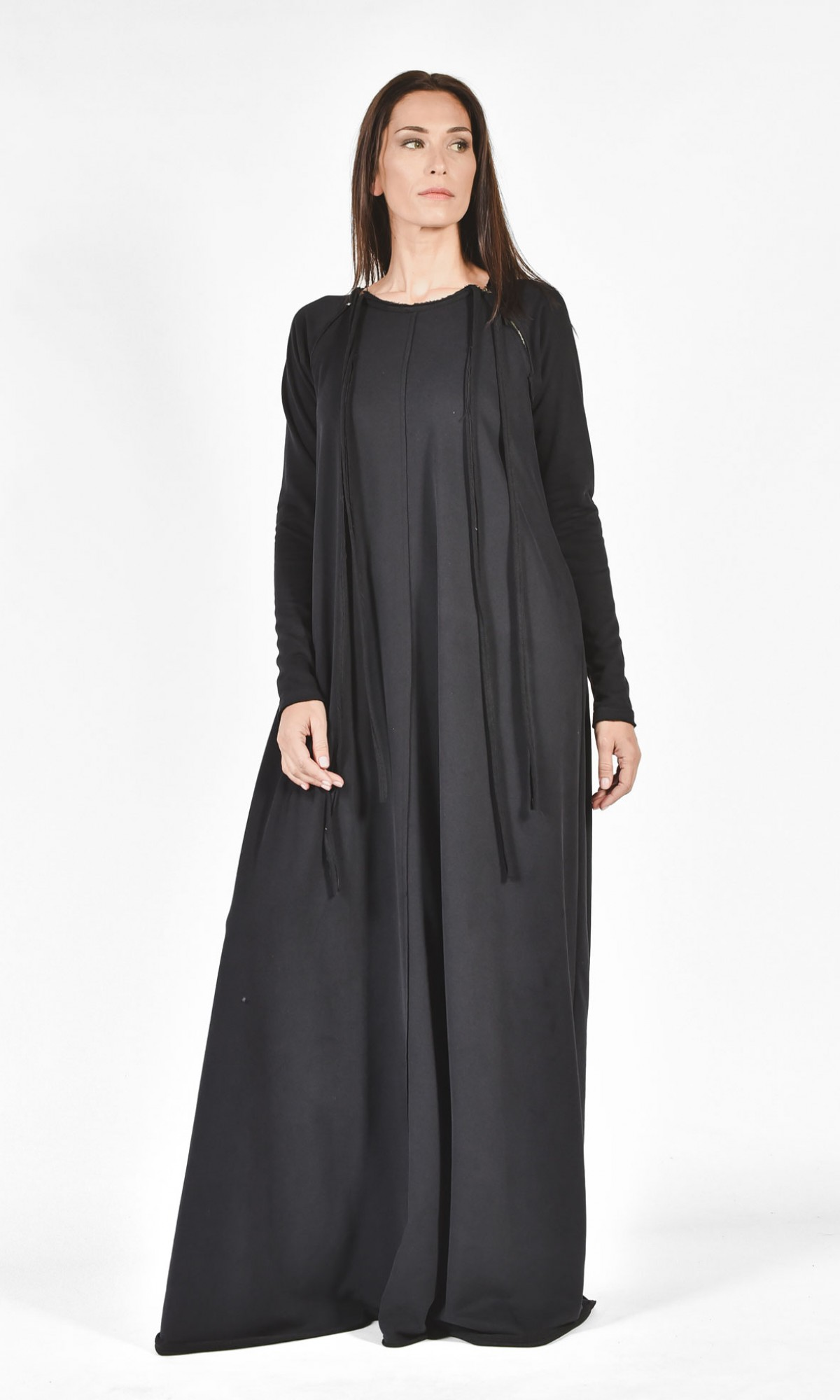 Kaftan Maxi Cotton Side Pockets Dress