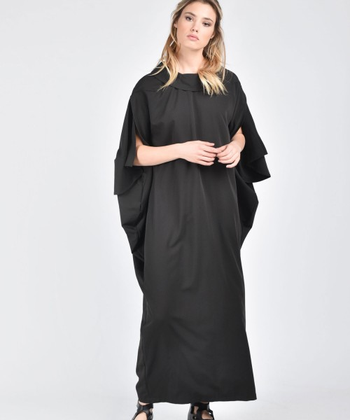 Extravagant Long Draped Dress A03367