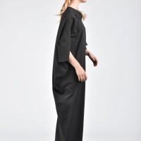 Extravagant Long Draped Dress A03367