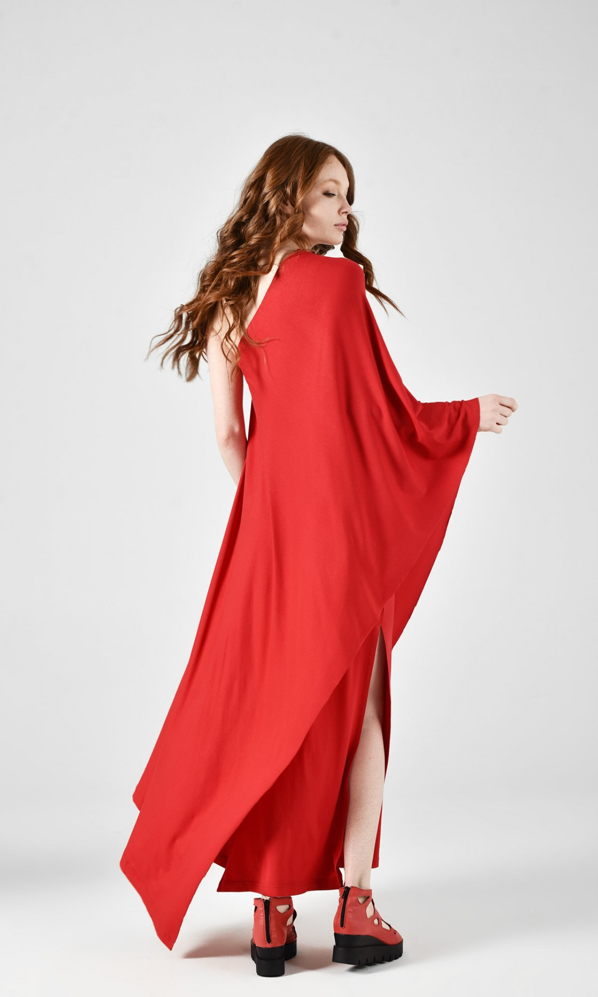 Sexy Red Party Maxi Dress A03394