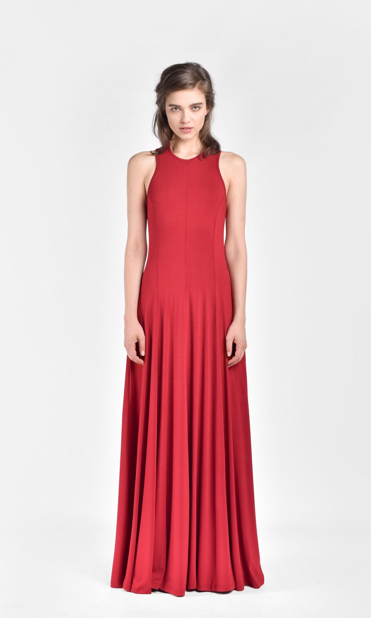 Cross Back Strap Maxi Dress A03414