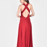 Cross Back Strap Maxi Dress A03414