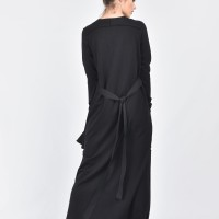 Black Maxi Dress with Side Pockets A03464