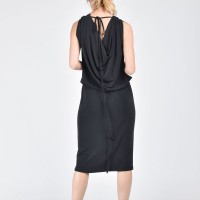 Black Dress with Sexy waistline A03482