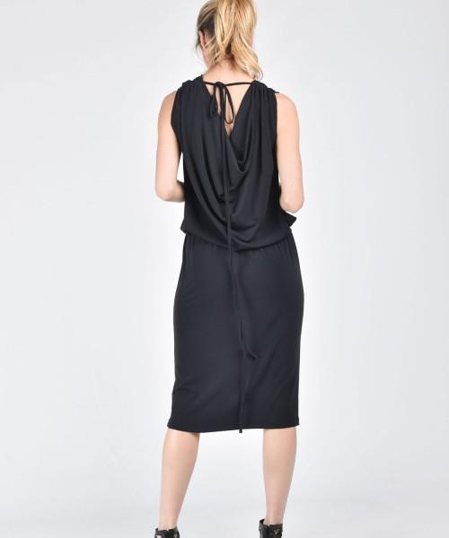 Black Dress with Sexy waistline A03482
