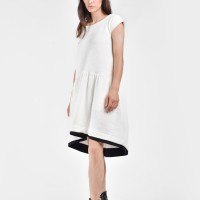 Autumn Sexy Off-White Mini Dress A03486