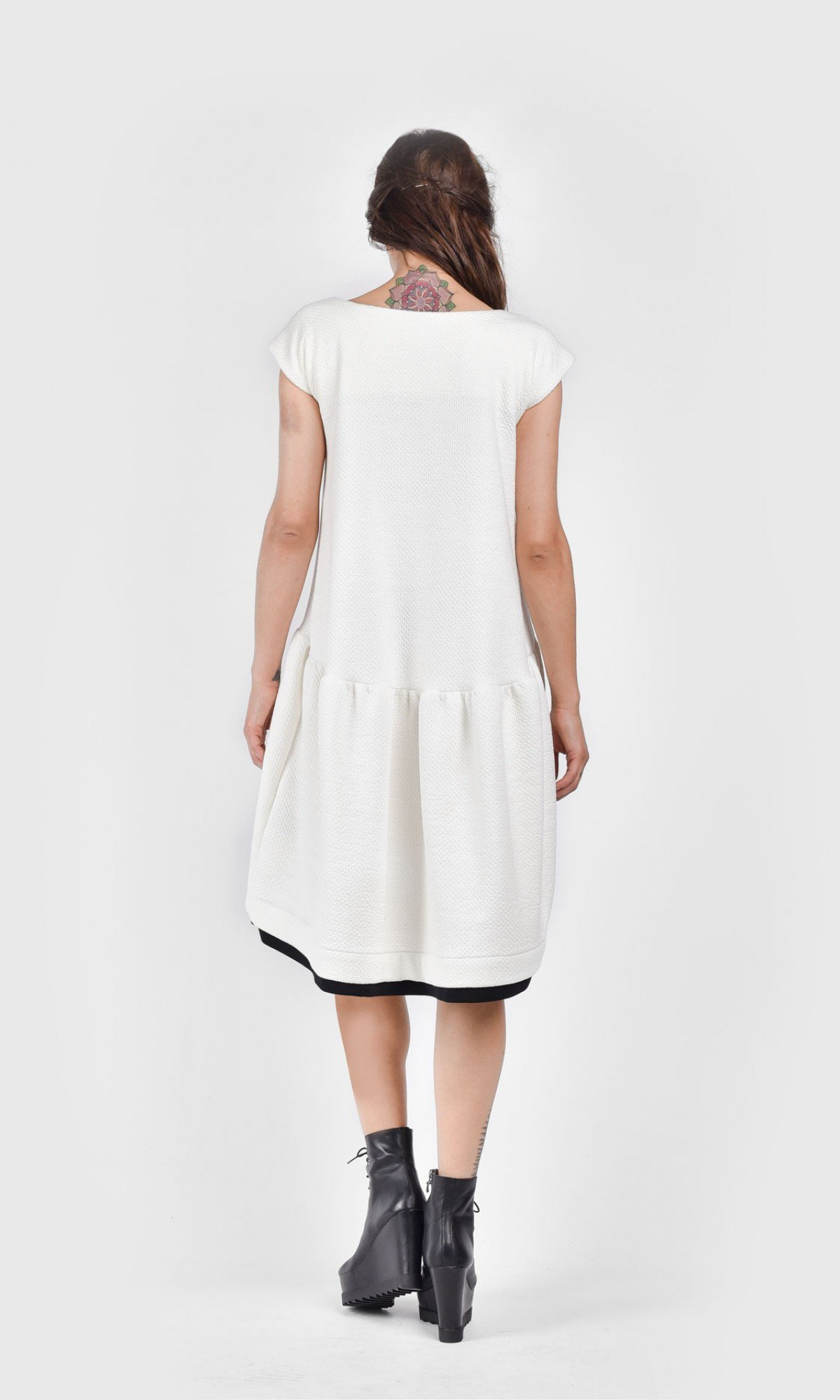 Autumn Sexy Off-White Mini Dress A03486