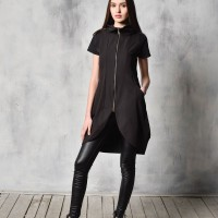 Sexy Black Tunic Dress A03493