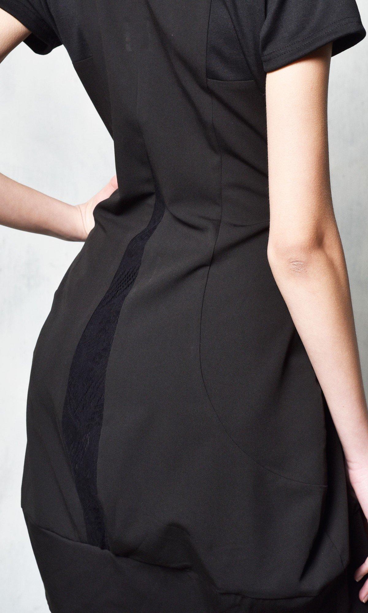 Sexy Black Tunic Dress A03493
