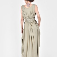 Maxi Dress in Green and Black A03497