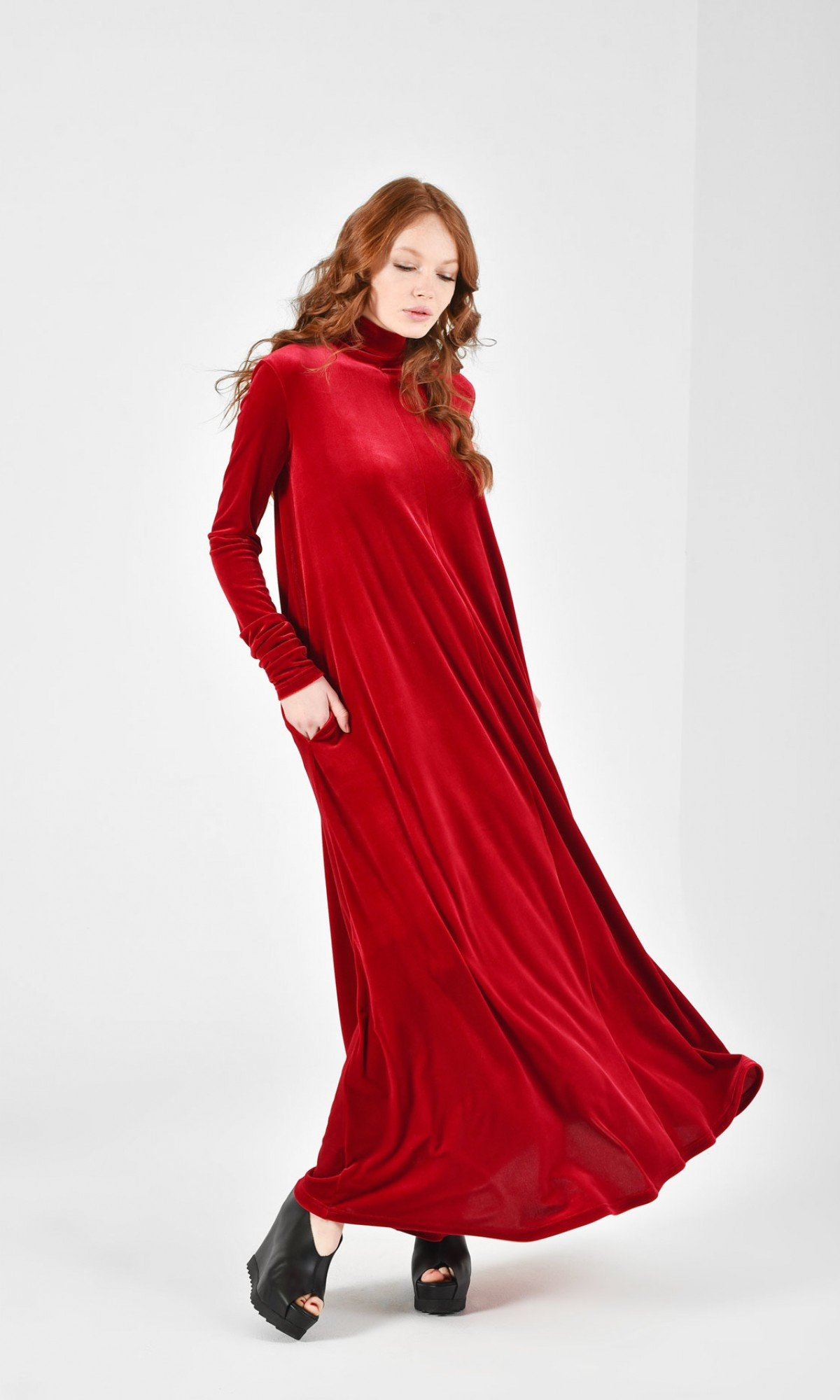 Royal Velvet Maxi Dress