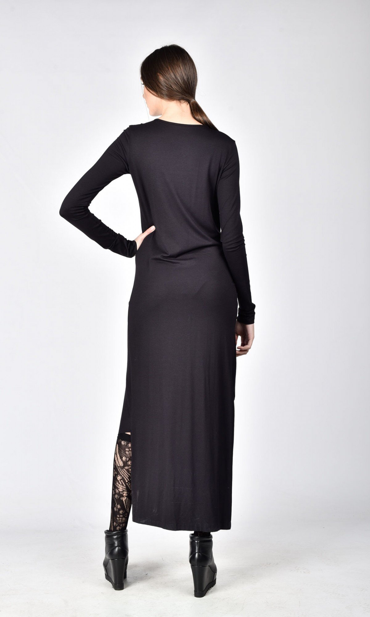 Asymmetric Dress with Twisted Front
