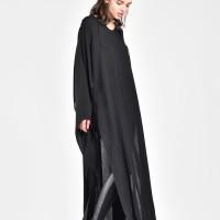 Maxi Black V-Neck Dress A03525