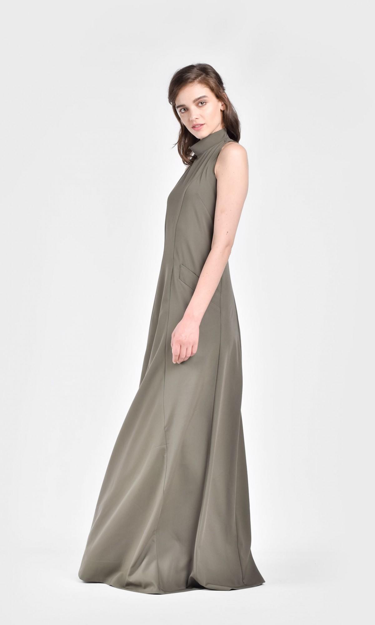 White Halter Maxi Dress