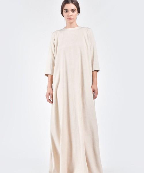 Maxi Linen Dress A03602