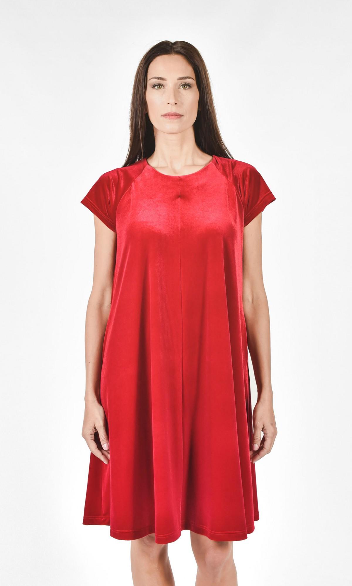Little Baby Doll Velvet Dress A90043