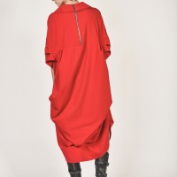 Short Sleeve Draped Dress A03617