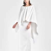 Extravagant Cape Dress A03666