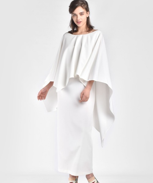 Extravagant Cape Dress A90062
