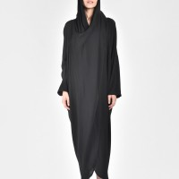 Extravagant Shirt Hooded Dress A90063