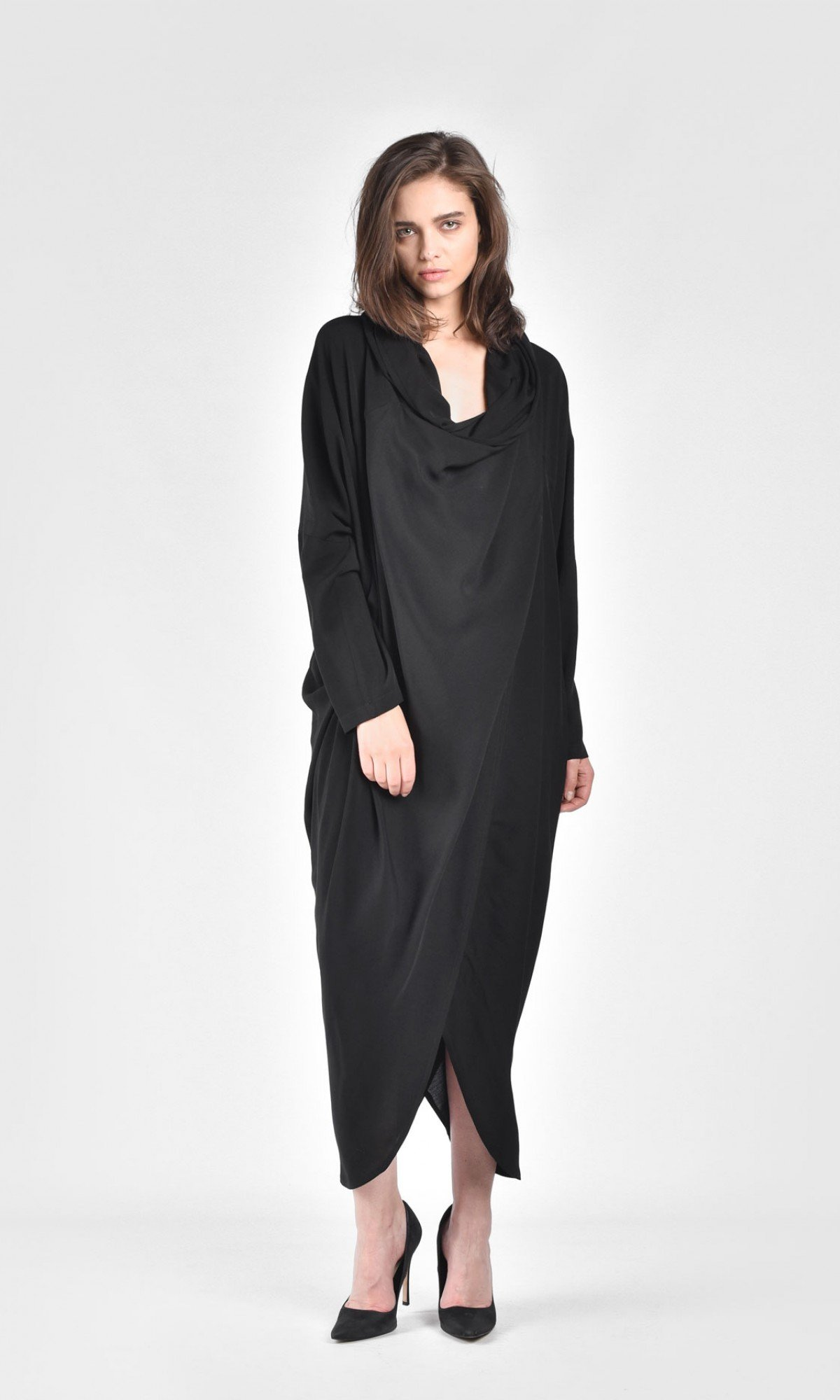 Extravagant Shirt Hooded Dress A03730