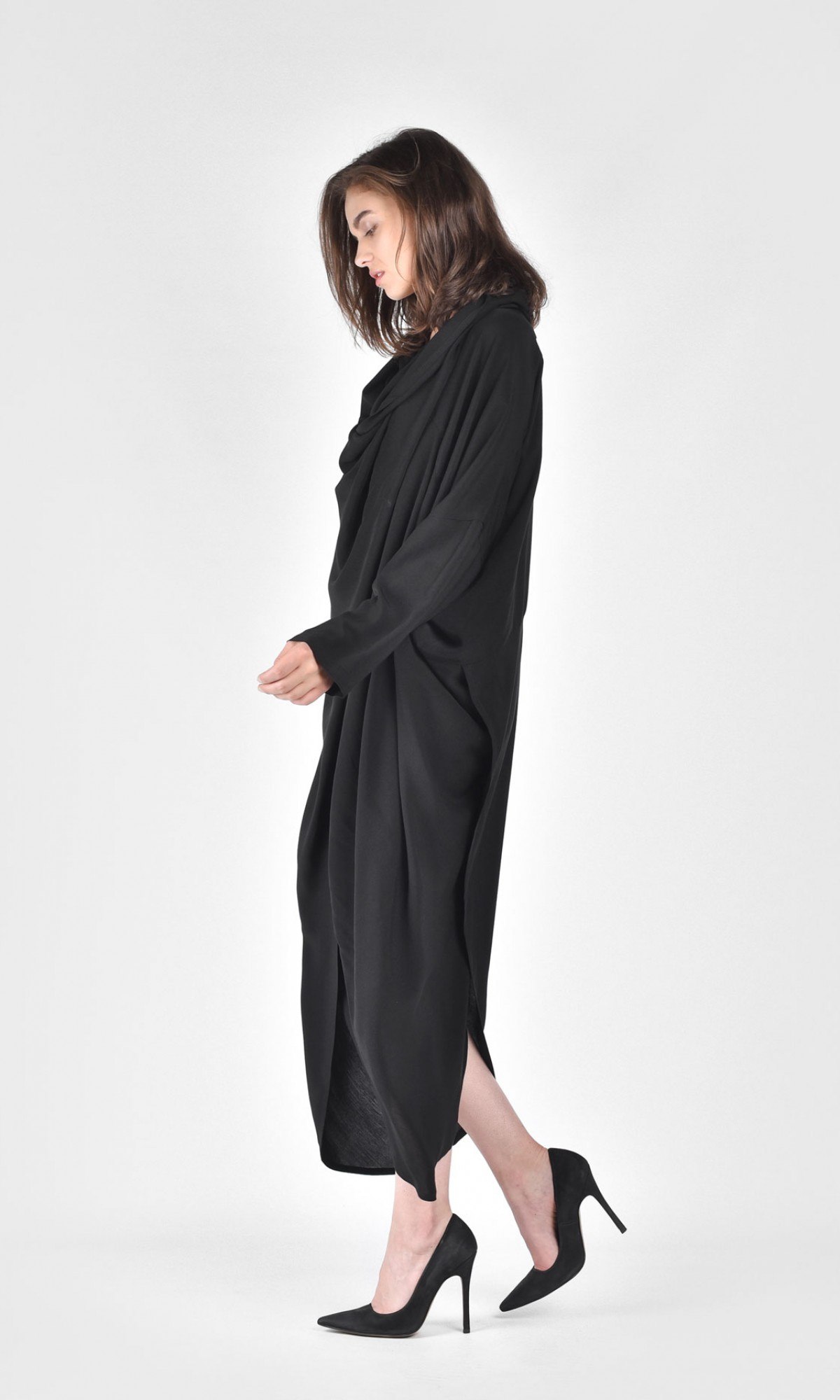 06368b5f4c9d45 ... Extravagant Shirt Hooded Dress A03730 ...