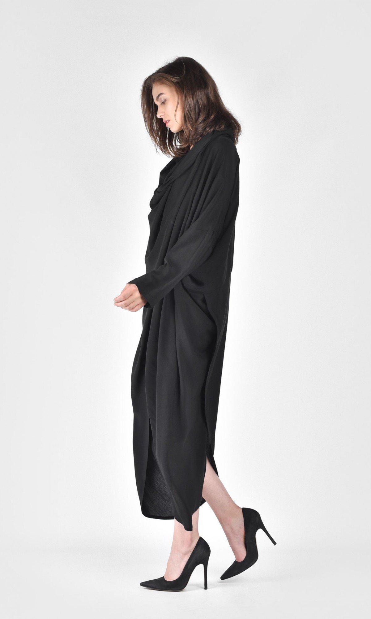Extravagant Shirt Hooded Dress A03730