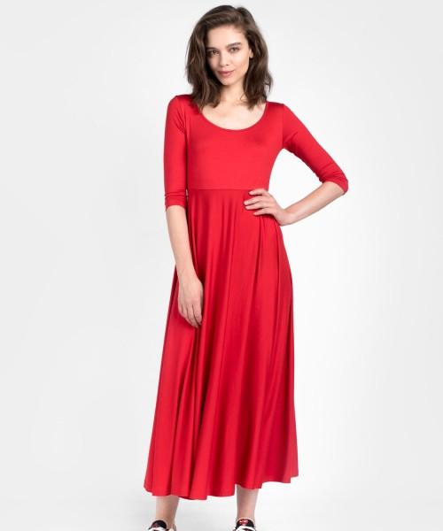 Draped mid sleeve dress A90064