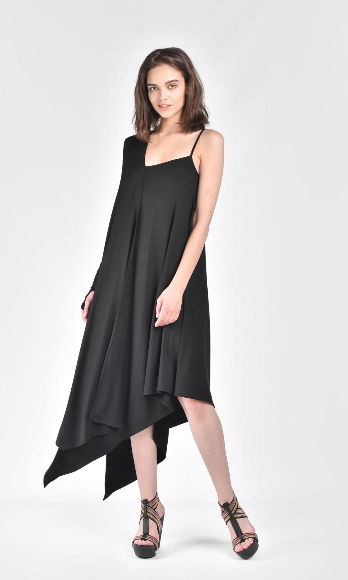 Elegant One Shoulder Flared Dress