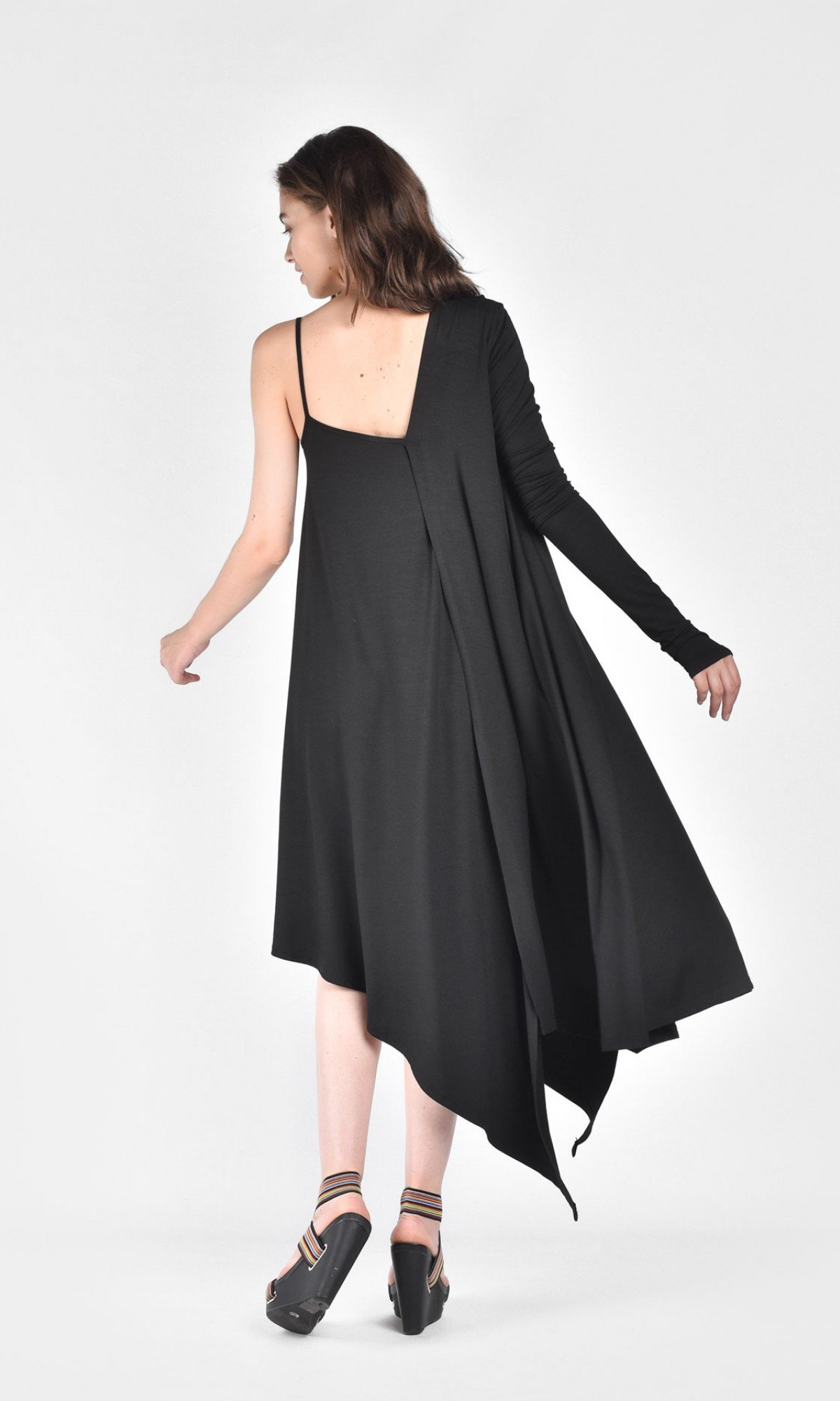 Elegant One Shoulder Flared Dress A90076