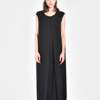 Sleevless maxi front slit dress A90081