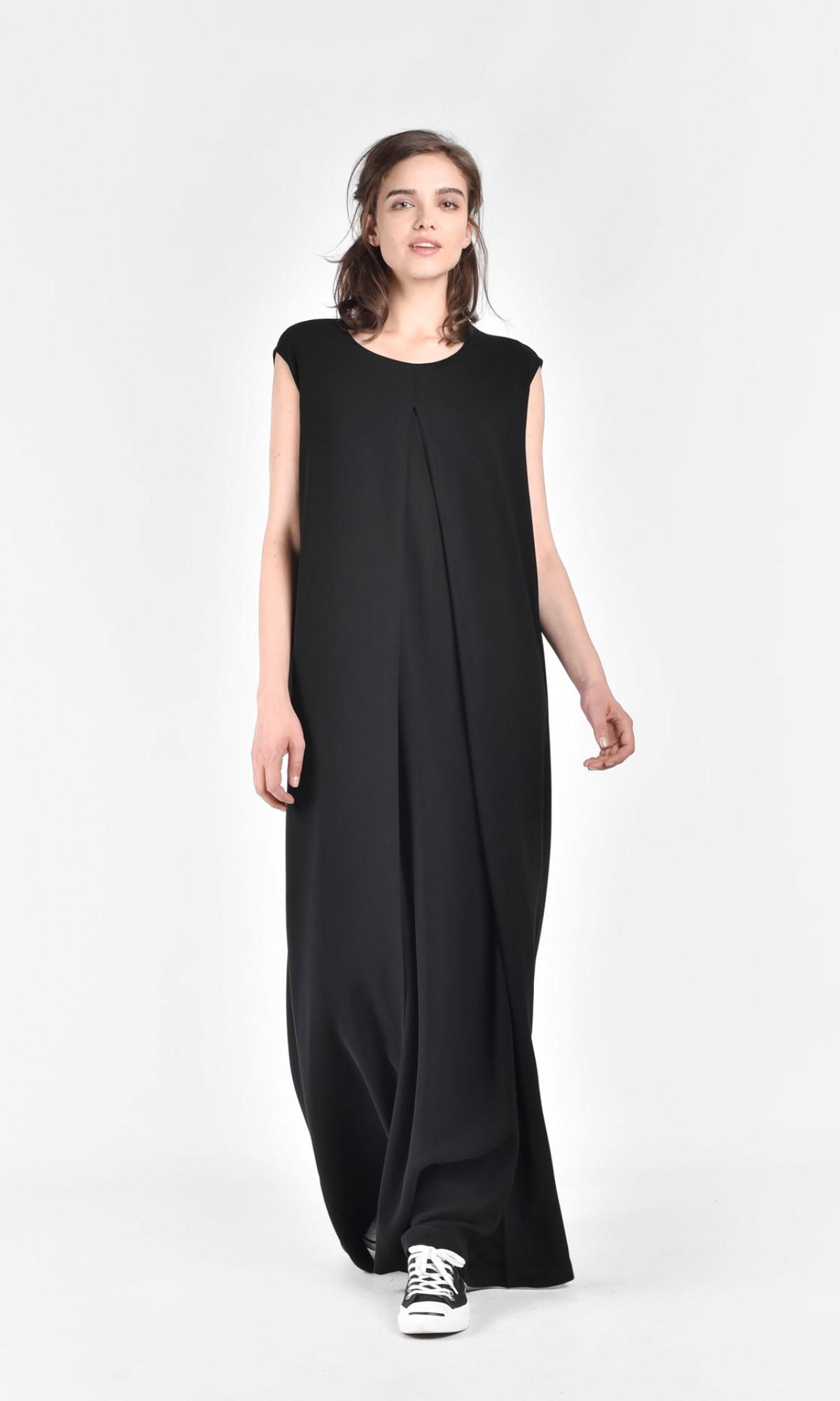 Sleevless Maxi Front Slit Dress