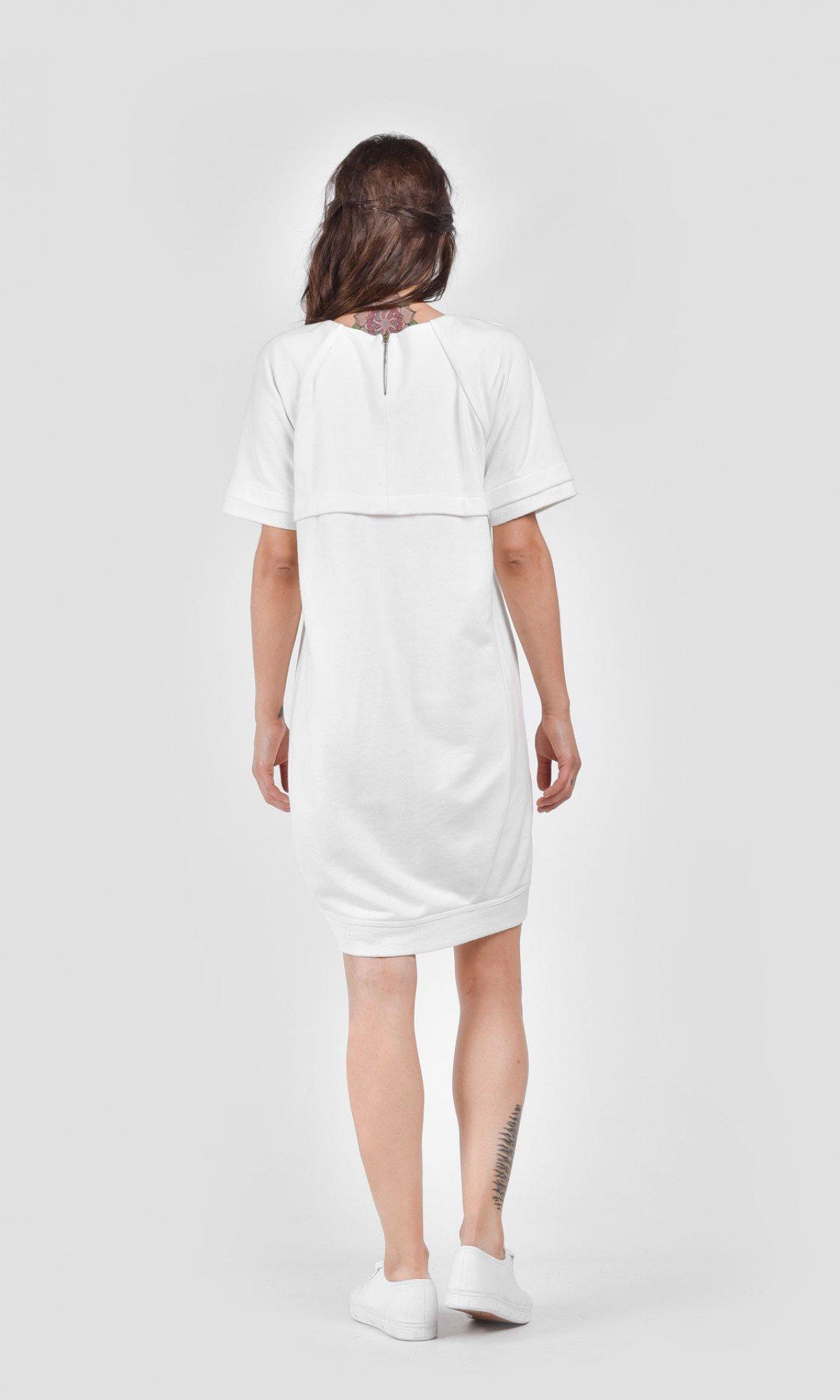Casual Short Sleeves Sweatshirt Dress