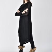 Long Sleeve Mixed Fabric dress A03778