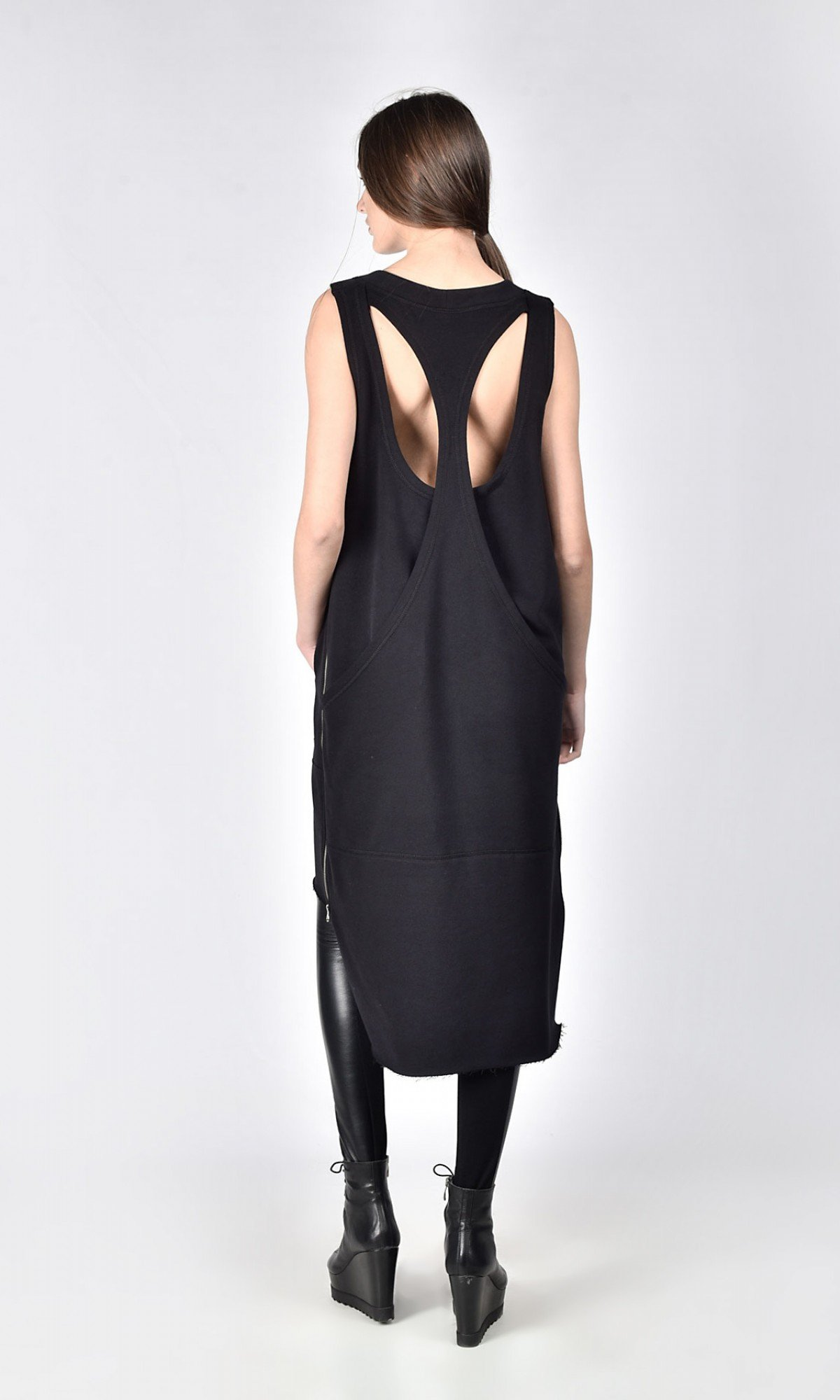Racer Back Tunic Dress with pockets A03718