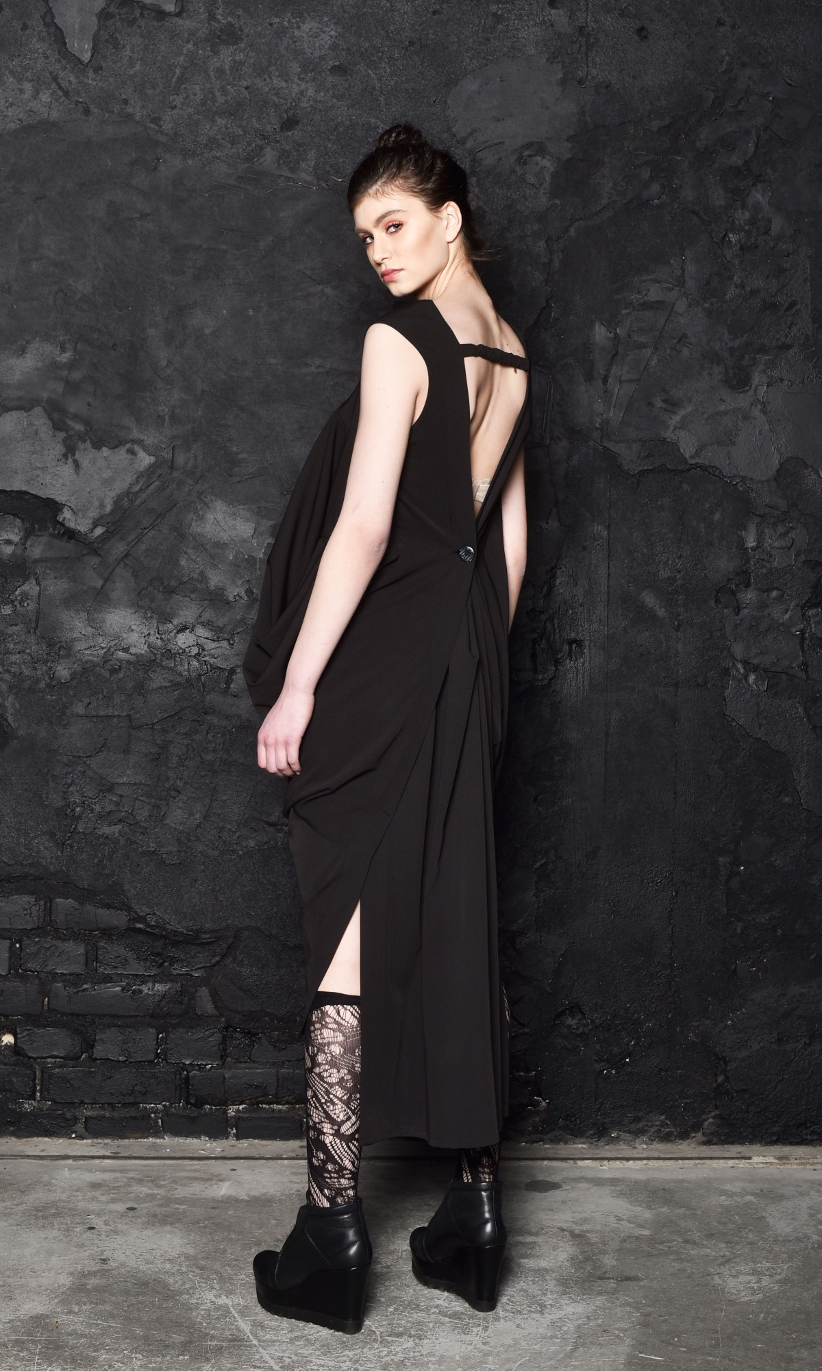 Extravagant Asymmetric Sleeveless Dress A90220